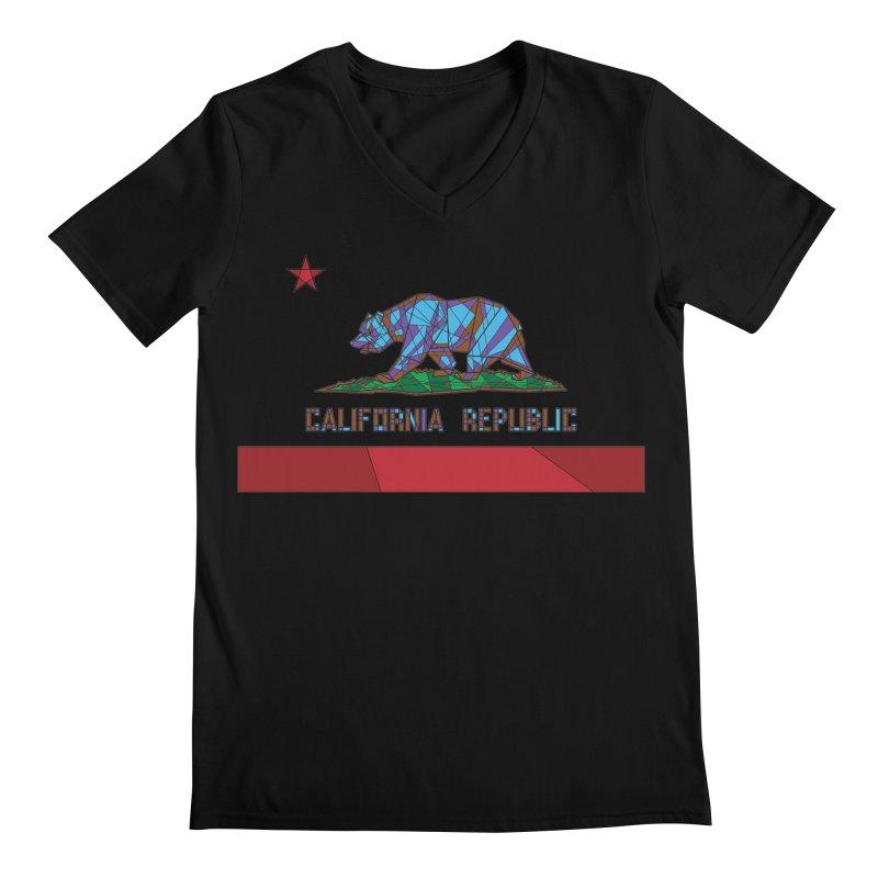 California Bear Flag Men's V-Neck by MXMINK