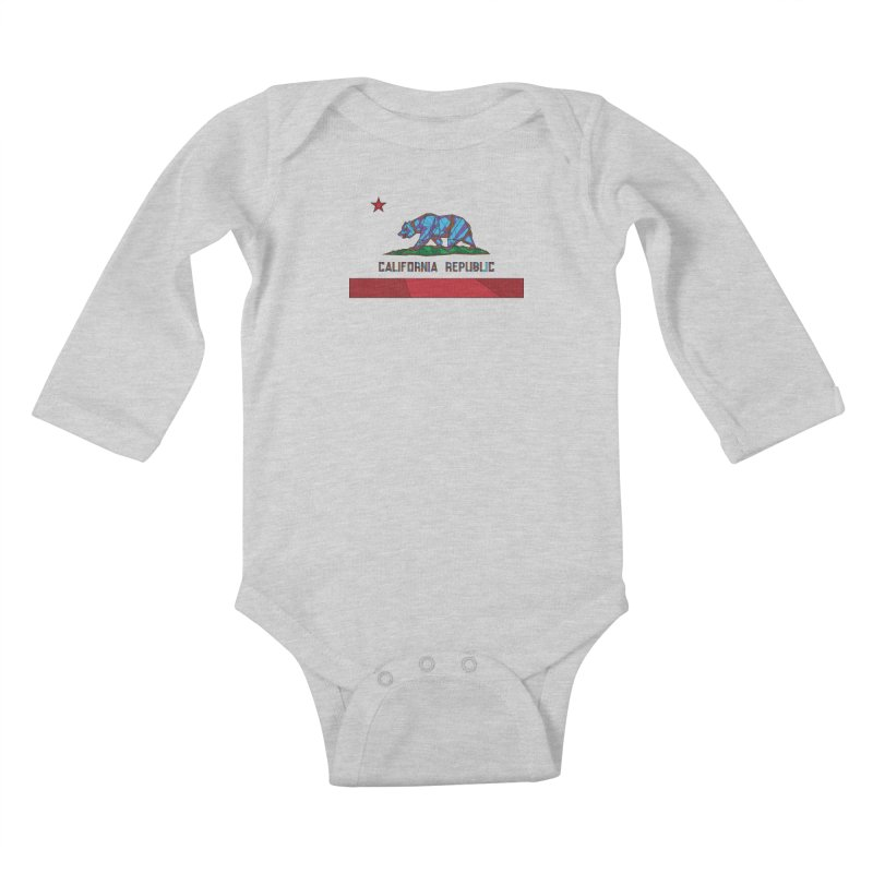 California Bear Flag Kids Baby Longsleeve Bodysuit by MXMINK