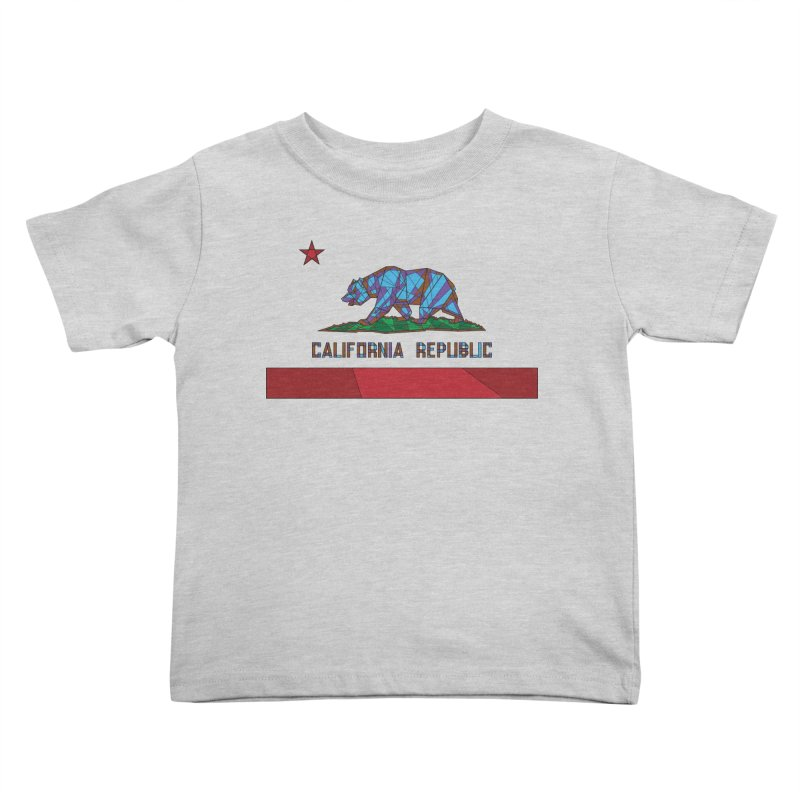 California Bear Flag Kids Toddler T-Shirt by MXMINK