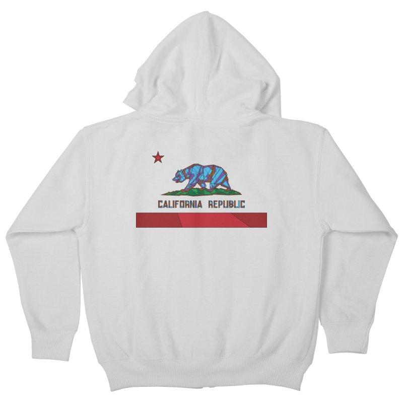 California Bear Flag Kids Zip-Up Hoody by MXMINK