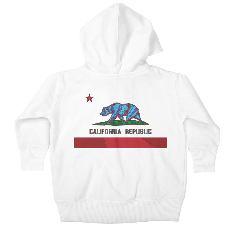 California Bear Flag Kids Baby Zip-Up Hoody by MXMINK