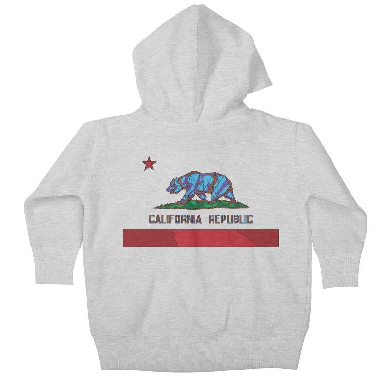 California Bear Flag Kids Baby Zip-Up Hoody by MXMINK
