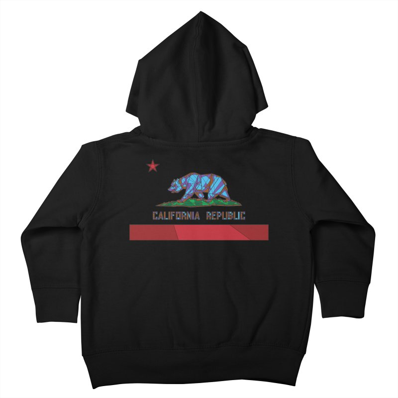 California Bear Flag Kids Toddler Zip-Up Hoody by MXMINK