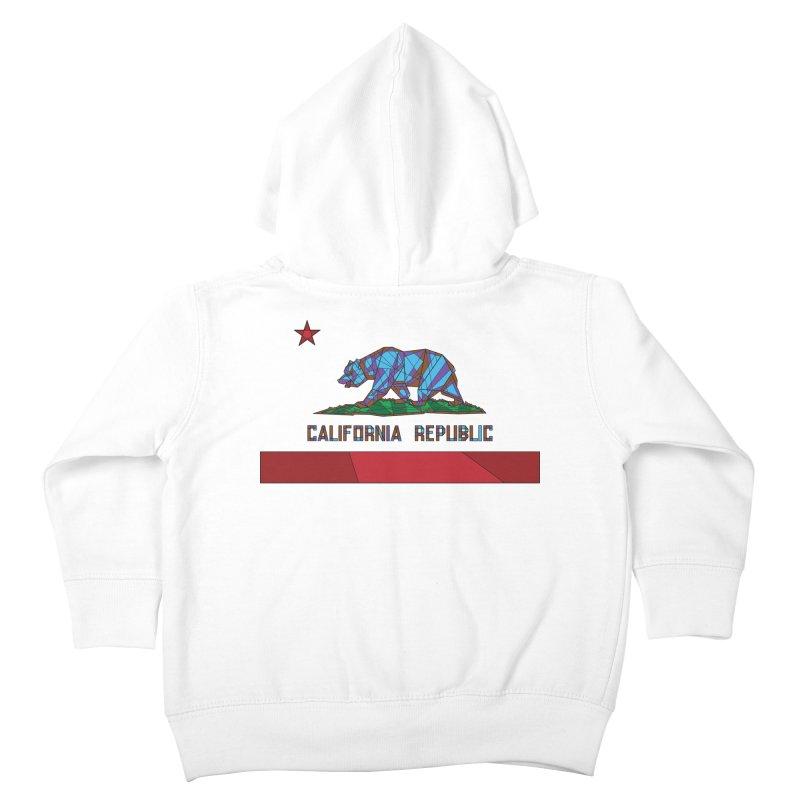 California Bear Flag Kids Toddler Zip-Up Hoody by MXMINK