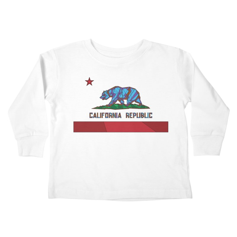 California Bear Flag Kids Toddler Longsleeve T-Shirt by MXMINK