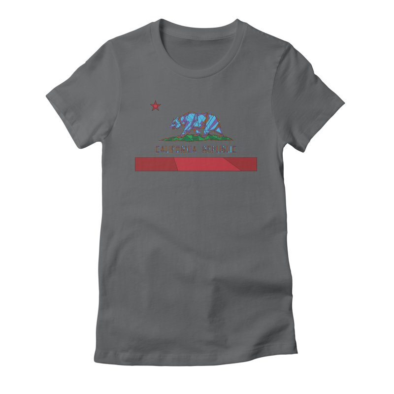 California Bear Flag Women's Fitted T-Shirt by MXMINK