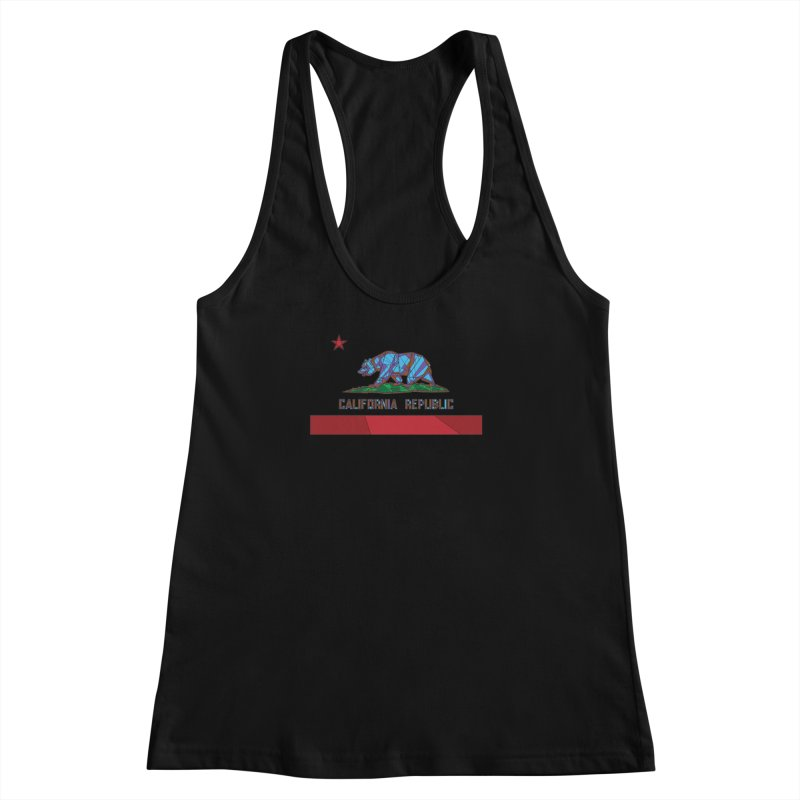 California Bear Flag Women's Racerback Tank by MXMINK