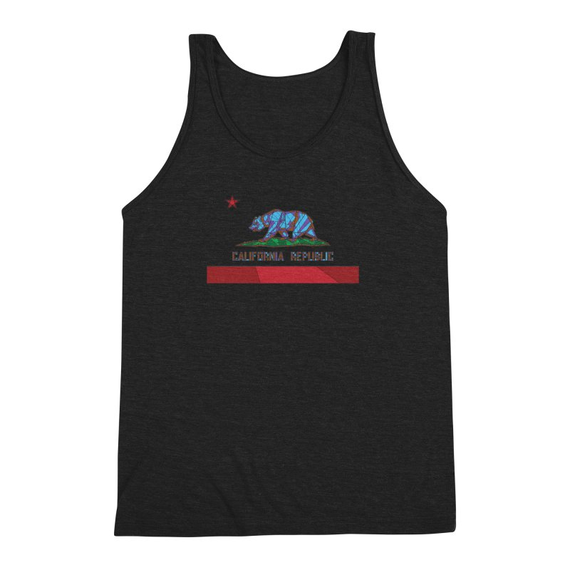California Bear Flag Men's Triblend Tank by MXMINK
