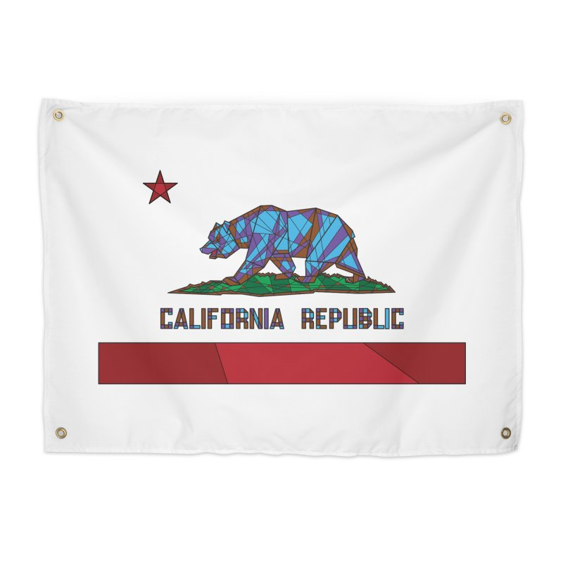 California Bear Flag Home Tapestry by MXMINK