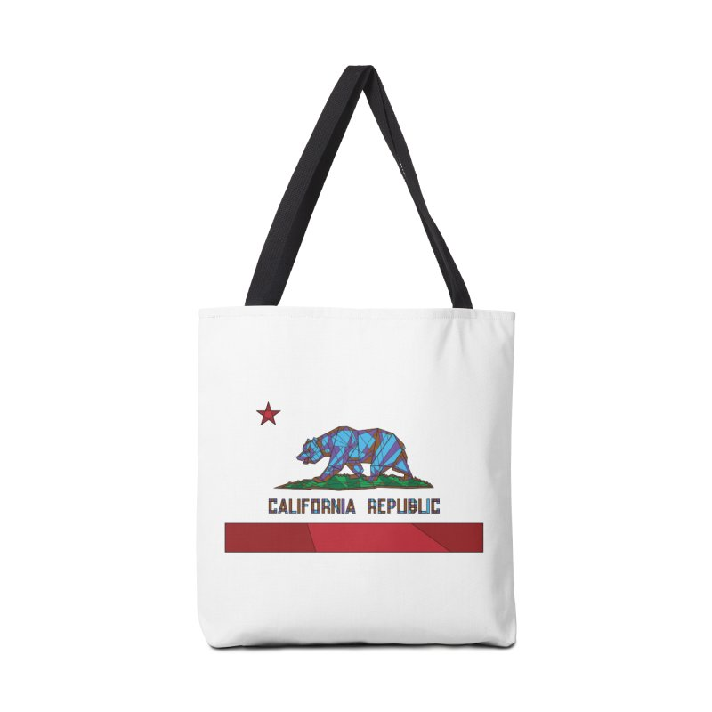 California Bear Flag Accessories Bag by MXMINK
