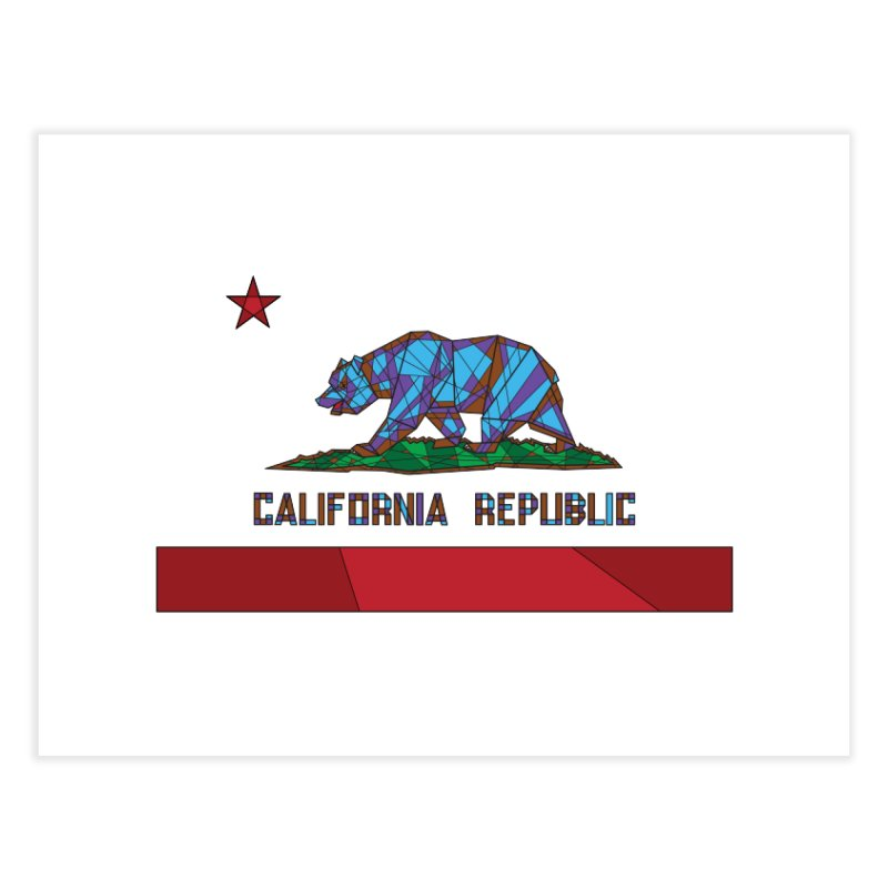 California Bear Flag Home Fine Art Print by MXMINK