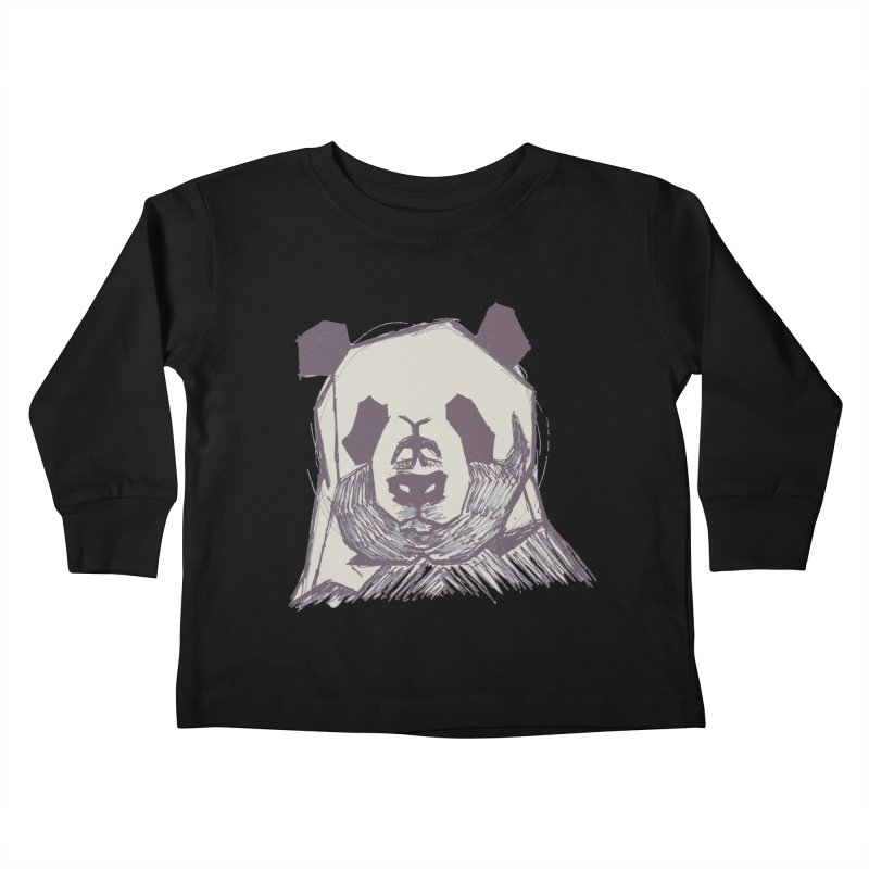 PANDA Kids Toddler Longsleeve T-Shirt by MXMINK