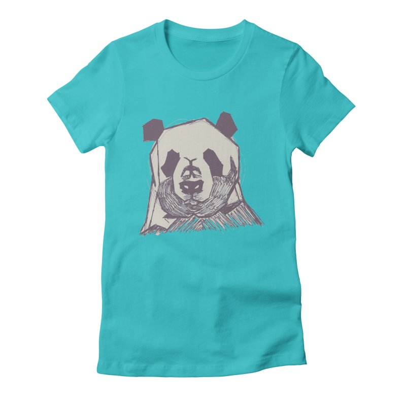 PANDA Women's Fitted T-Shirt by MXMINK
