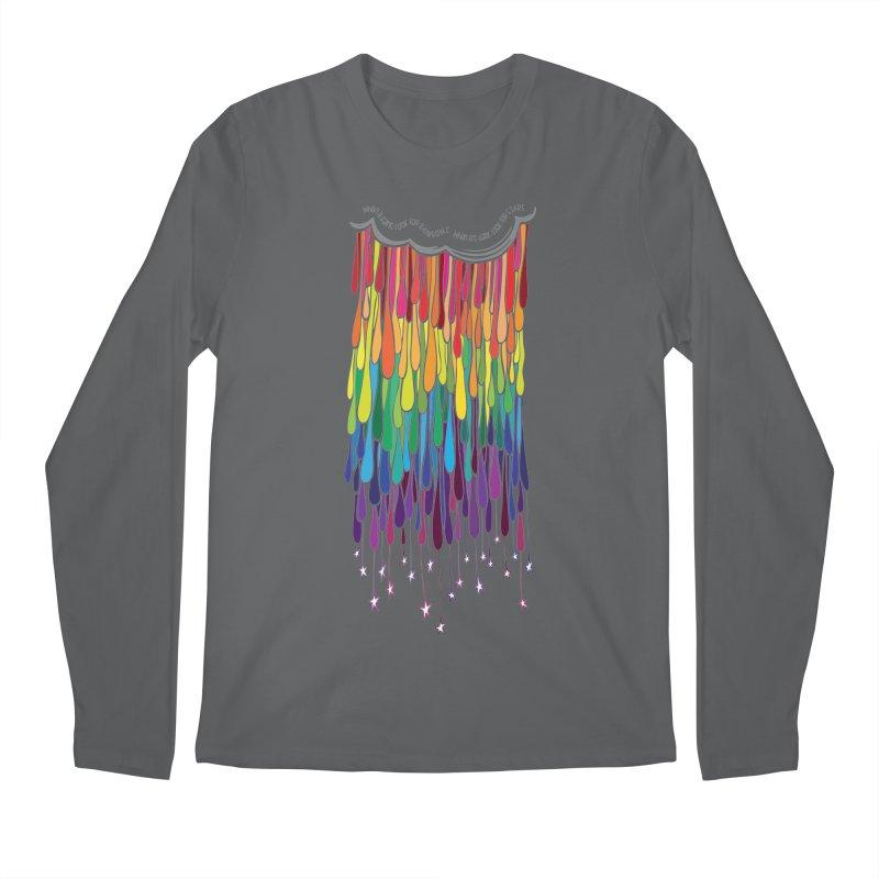 When It Rains Men's Longsleeve T-Shirt by MXMINK