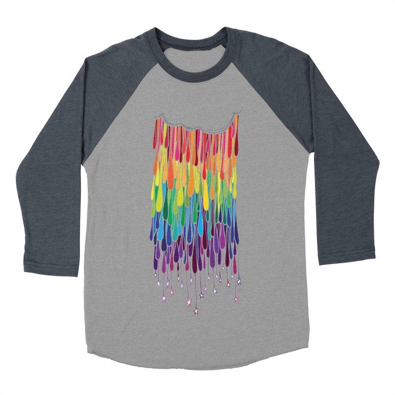 When It Rains Men's Baseball Triblend Longsleeve T-Shirt by MXMINK