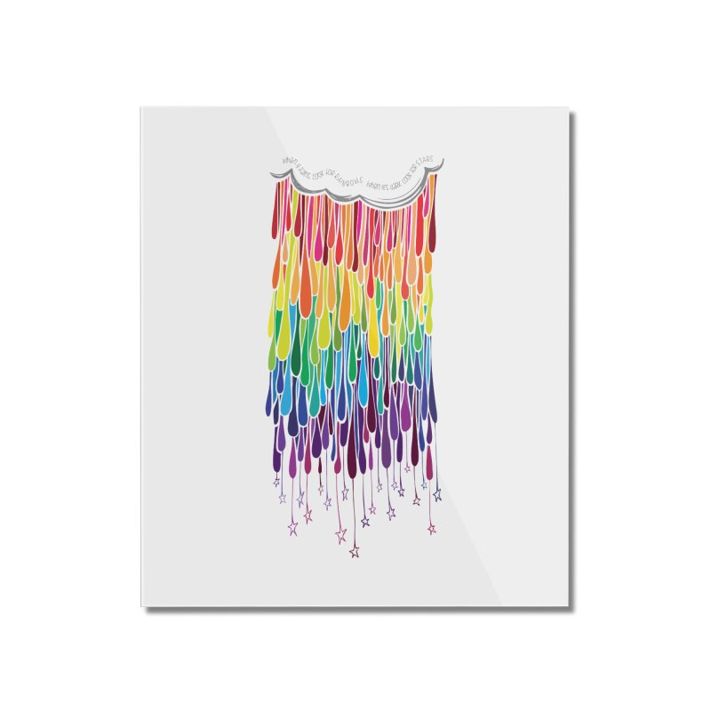 When It Rains Home Mounted Acrylic Print by MXMINK