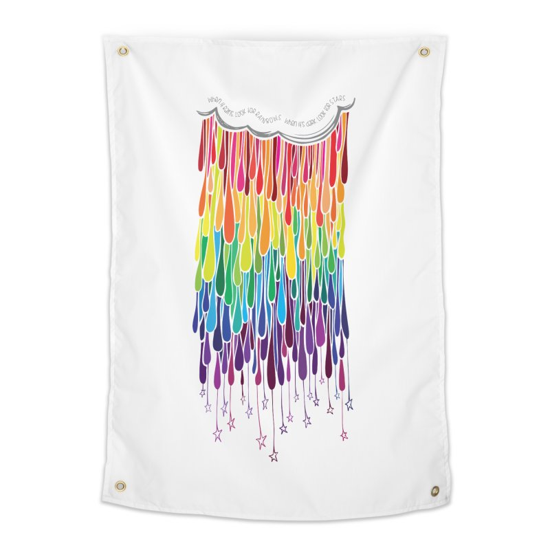 When It Rains Home Tapestry by MXMINK