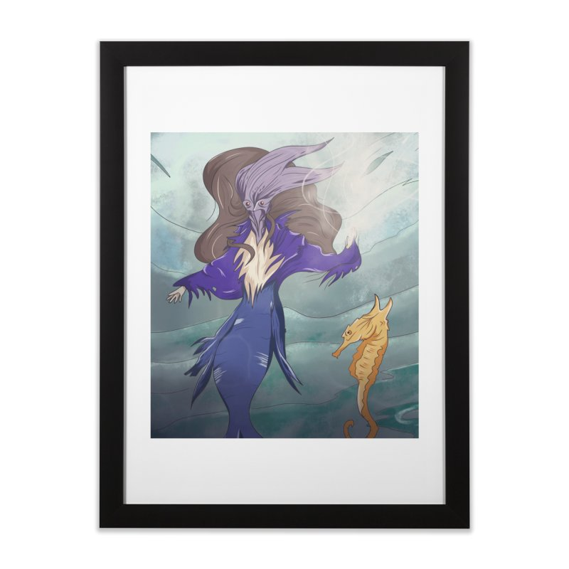 the silent queen. Home Framed Fine Art Print by myagender