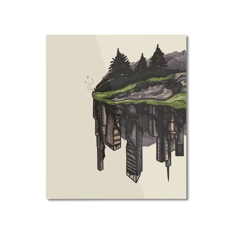 reclamation. Home Mounted Aluminum Print by myagender