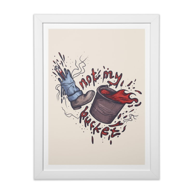 bucket. Home Framed Fine Art Print by myagender