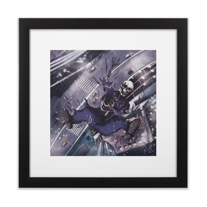 falling. Home Framed Fine Art Print by myagender