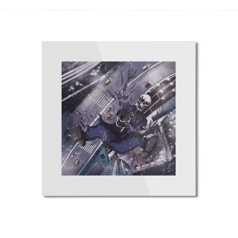 falling. Home Mounted Aluminum Print by myagender
