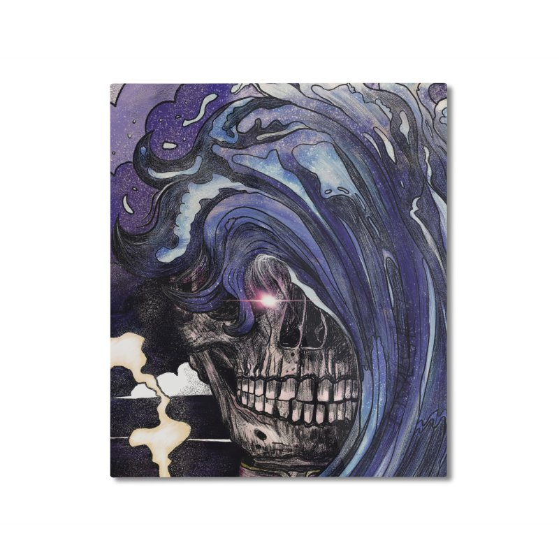 erase. Home Mounted Aluminum Print by myagender