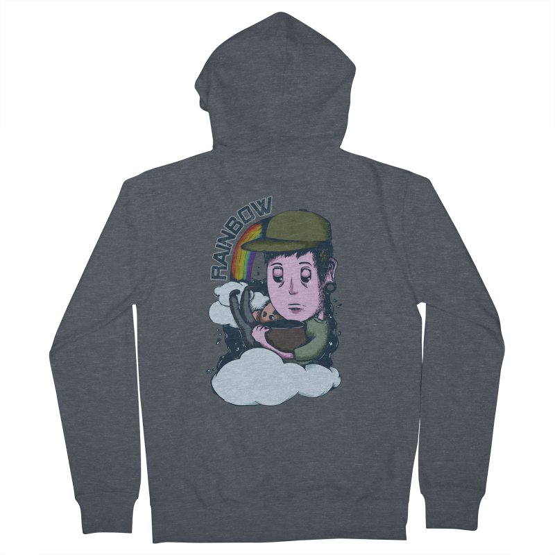 rainbow. Men's French Terry Zip-Up Hoody by myagender
