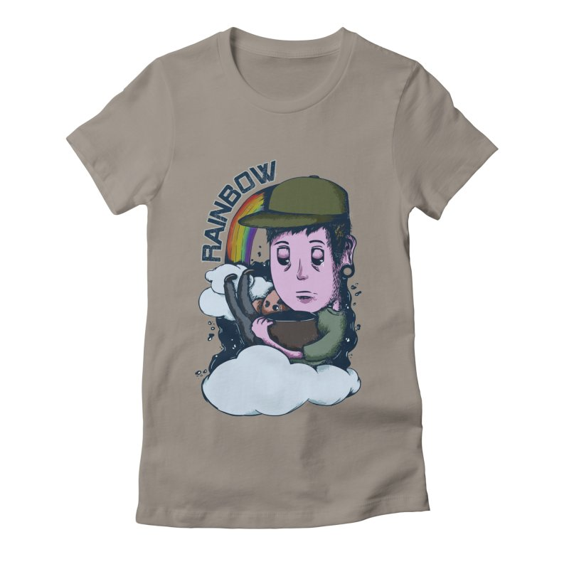 rainbow. Women's Fitted T-Shirt by myagender