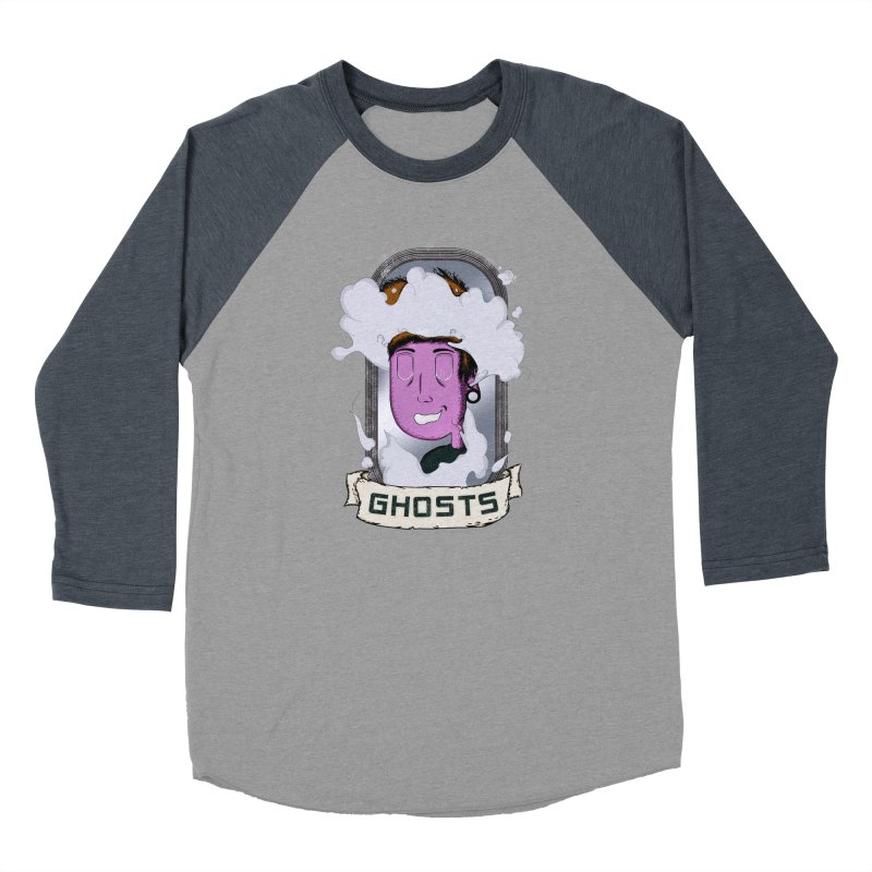 ghosts. Men's Baseball Triblend Longsleeve T-Shirt by myagender
