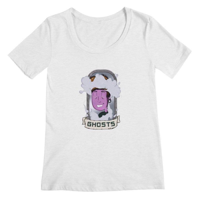 ghosts. Women's Regular Scoop Neck by myagender