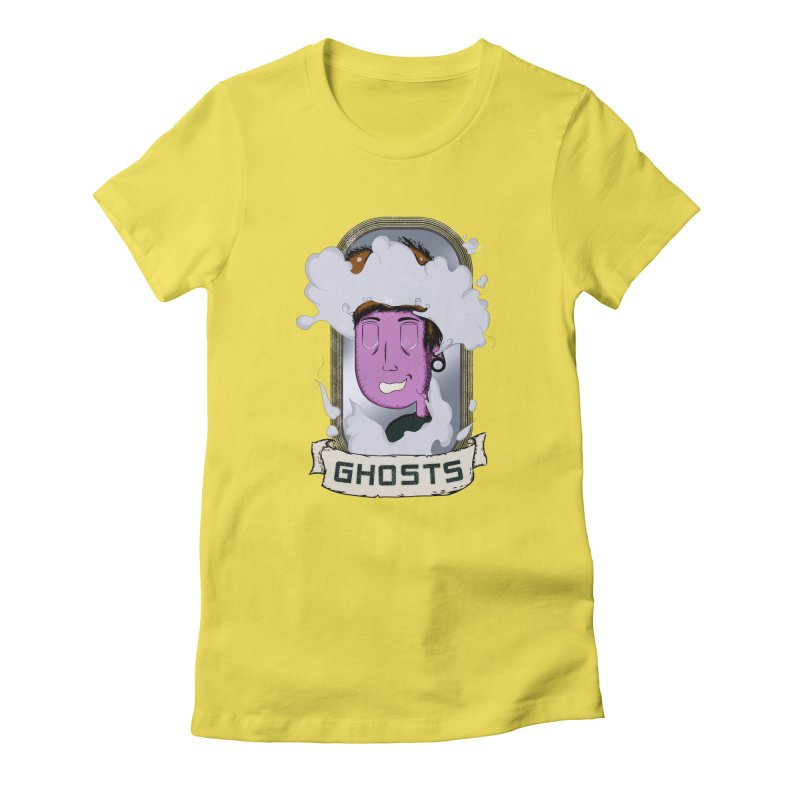 ghosts. Women's Fitted T-Shirt by myagender
