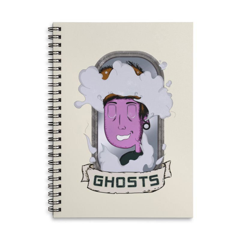 ghosts. Accessories Lined Spiral Notebook by myagender