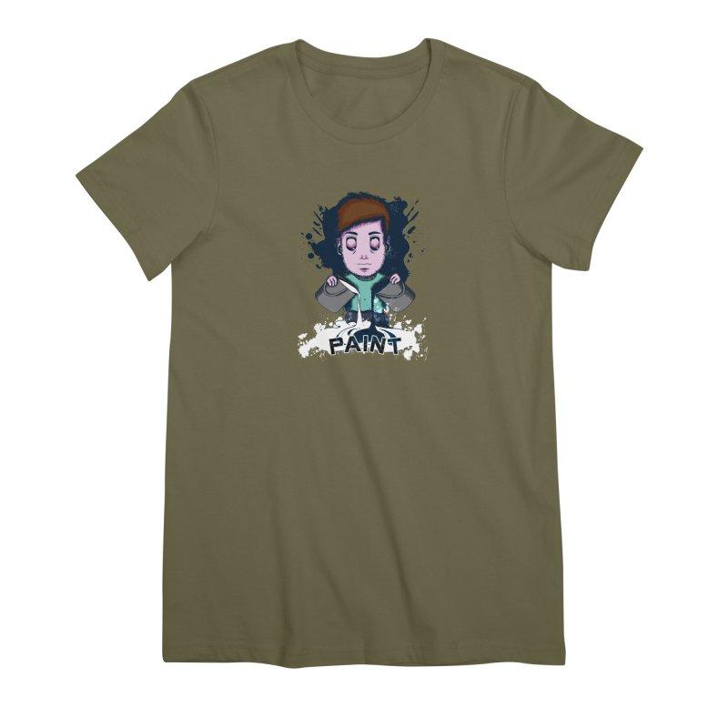 paint. Women's Premium T-Shirt by myagender