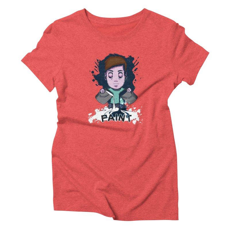 paint. Women's Triblend T-Shirt by myagender