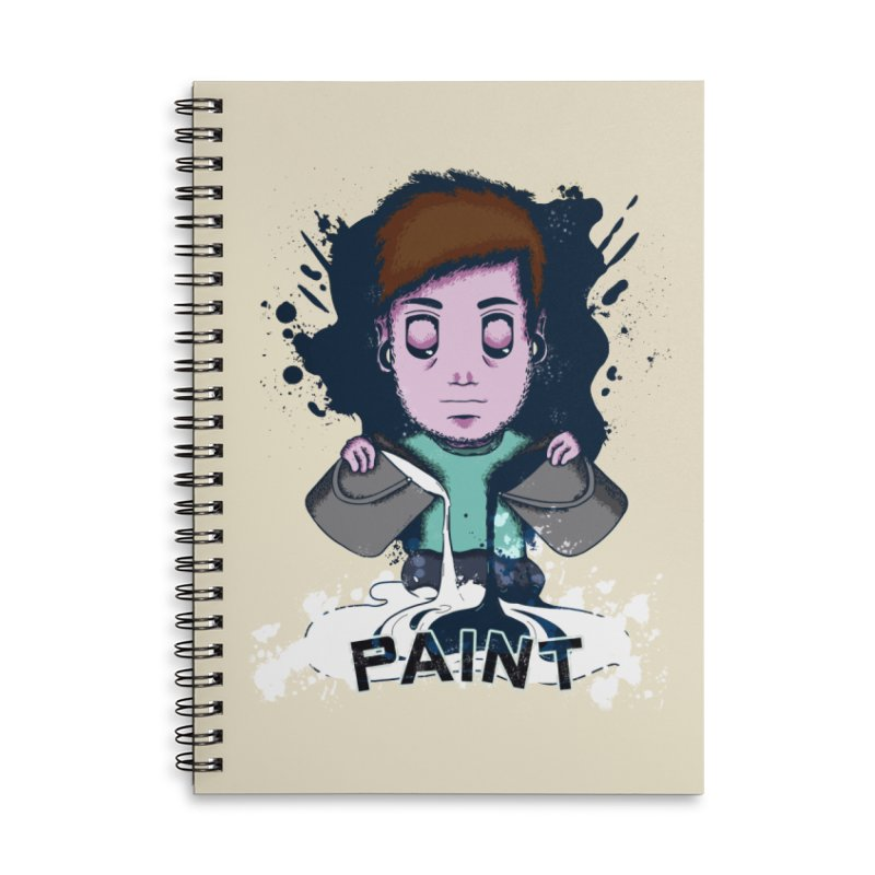 paint. Accessories Lined Spiral Notebook by myagender
