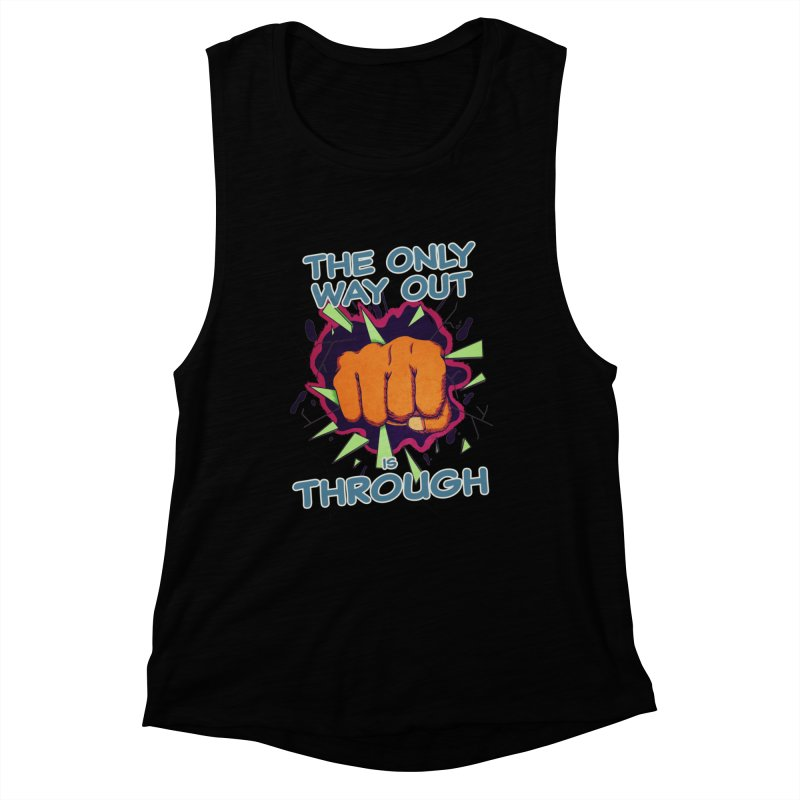 out. Women's Muscle Tank by myagender