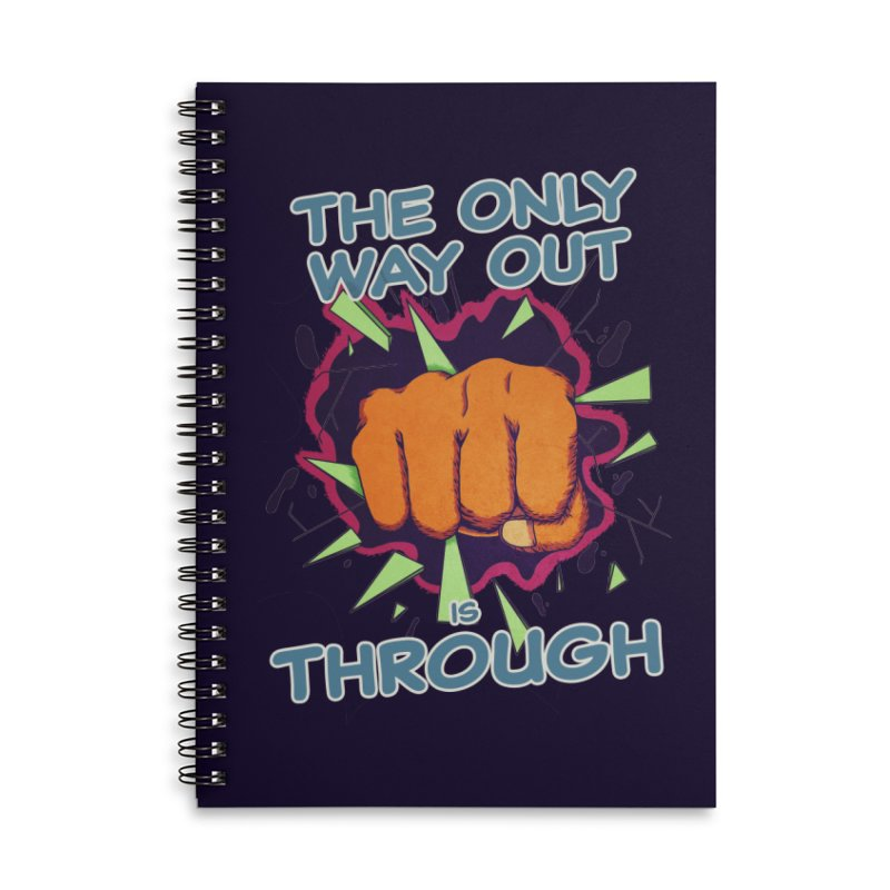 out. Accessories Lined Spiral Notebook by myagender