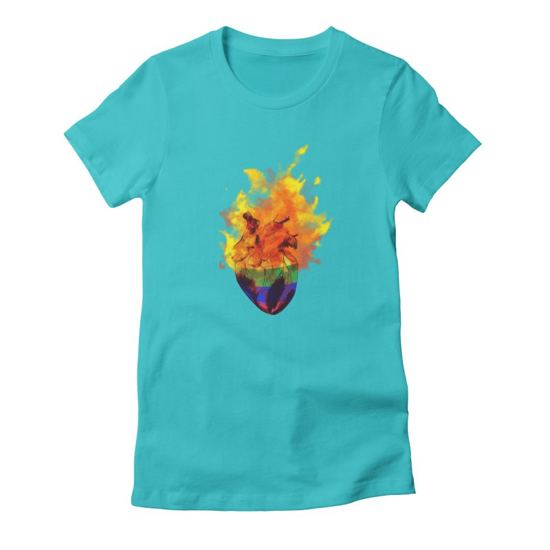 pride. Women's Fitted T-Shirt by myagender