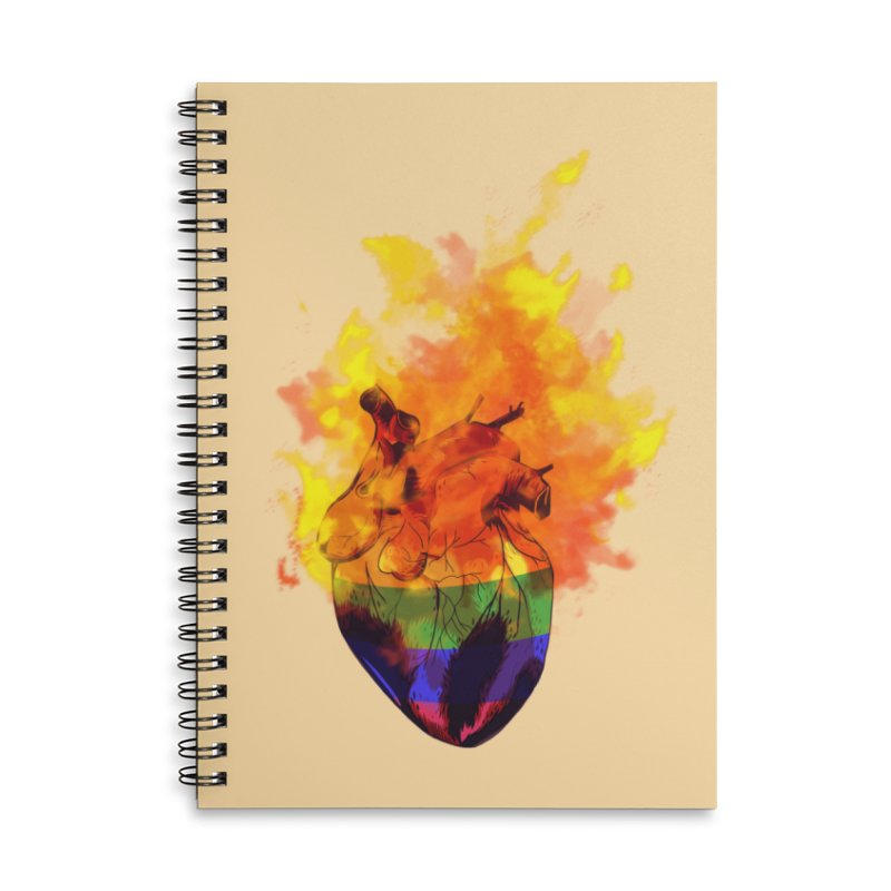 pride. Accessories Lined Spiral Notebook by myagender