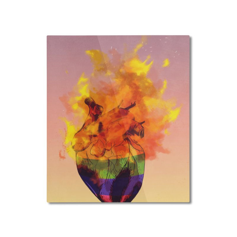 pride. Home Mounted Aluminum Print by myagender