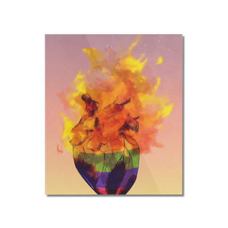 pride. Home Mounted Acrylic Print by myagender