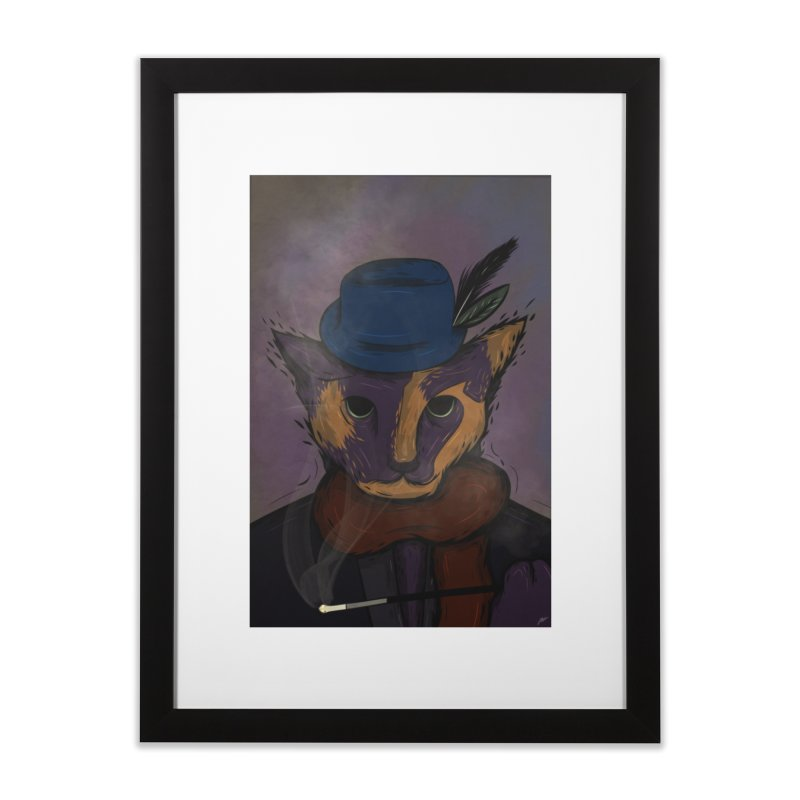 the cat lady. Home Framed Fine Art Print by myagender