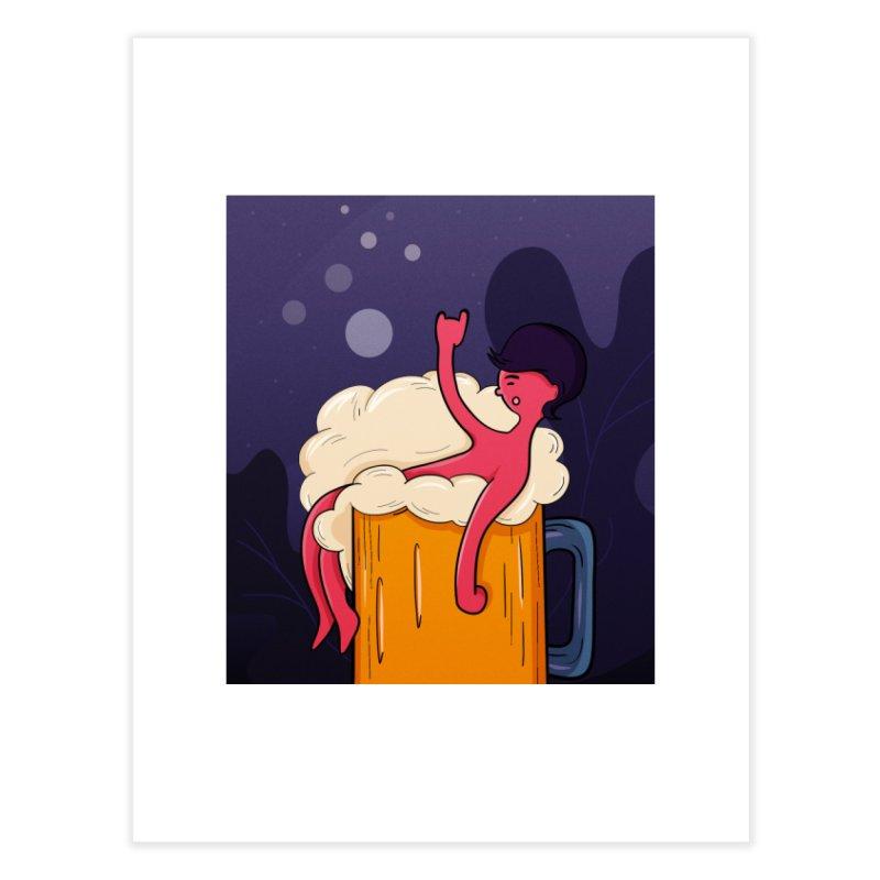 beer bath. Home Fine Art Print by myagender