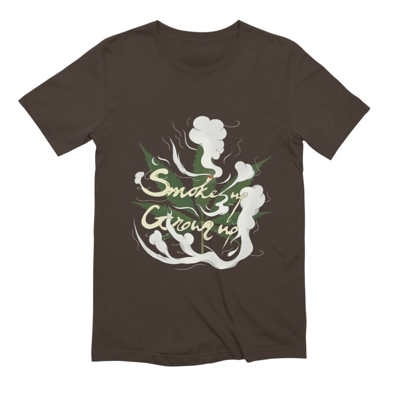smoke up, grow up. Men's Extra Soft T-Shirt by myagender
