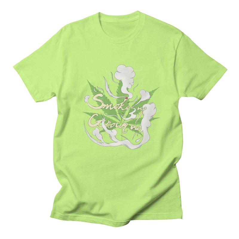 smoke up, grow up. Men's Regular T-Shirt by myagender