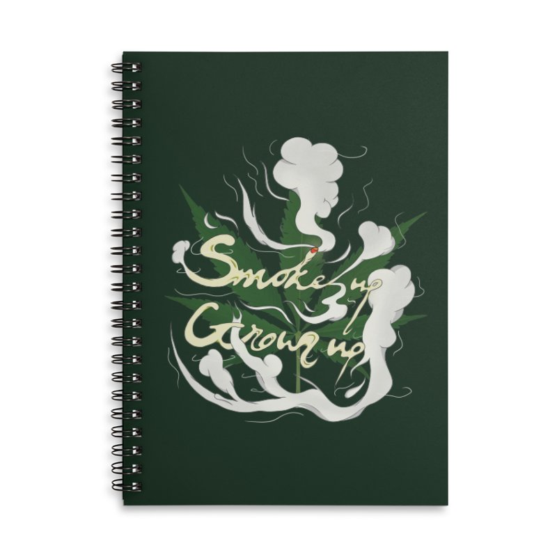 smoke up, grow up. Accessories Lined Spiral Notebook by myagender