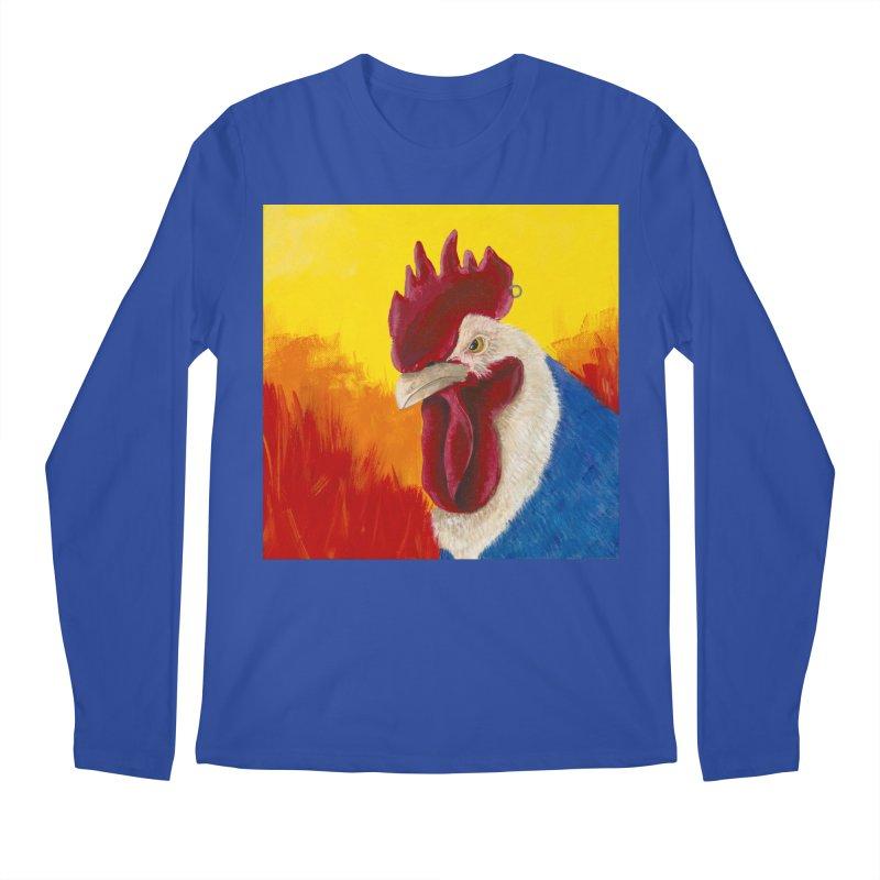 Angry Cock Men's Regular Longsleeve T-Shirt by mybadart's Artist Shop