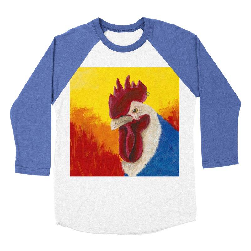 Angry Cock Men's Baseball Triblend Longsleeve T-Shirt by mybadart's Artist Shop