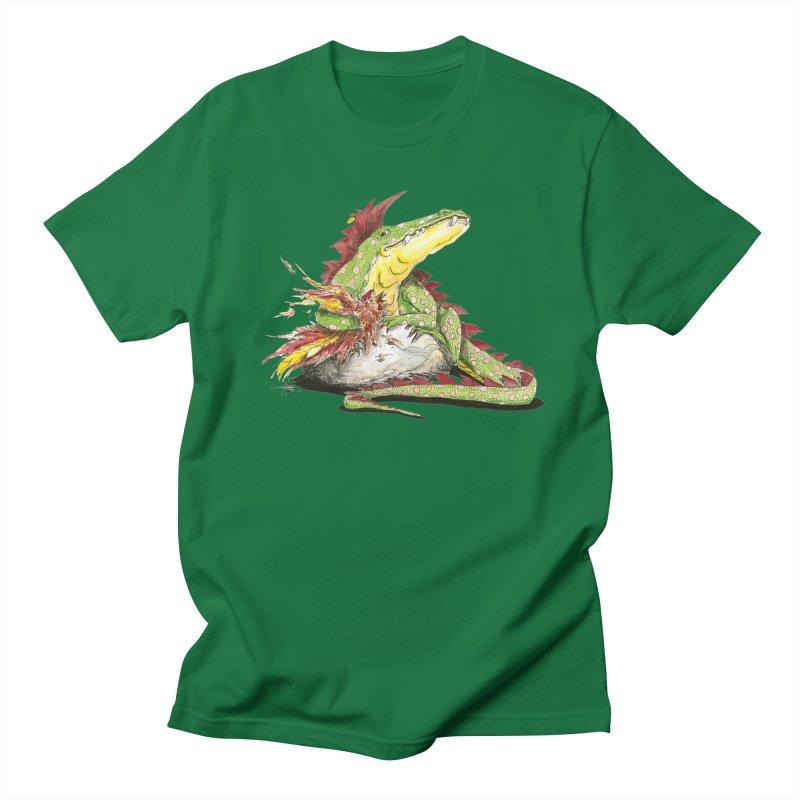 Lizard King, Chicken for Lunch Men's T-Shirt by mybadart's Artist Shop